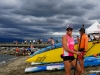 Lech L. Dolecki photo LLD 180811_ Locarno Beach, Vancouver, British Columbia, Canada. Team Starboard SUP Racer, Shannon Bell (Organizer), smiles at the Vancouver SUP Challenge.